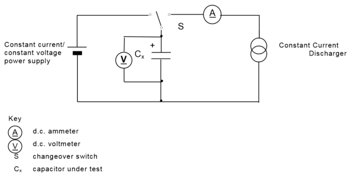 Circuit for constant current discharge method of supercap