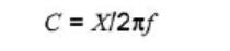 calculate the capacitance C of low esr capacitor